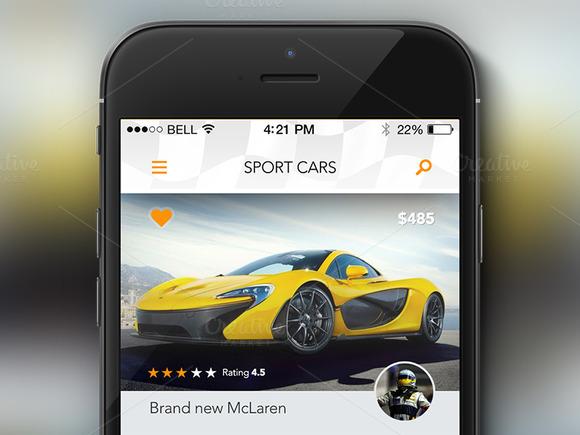 Rent A Sport Car Concept App