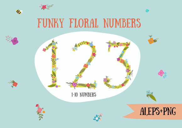 Funky Floral Numbers