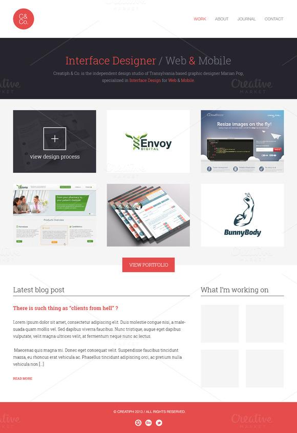 Portfolio Website 2 Pages