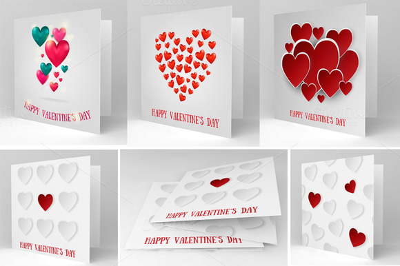 Valentine S Day BIG Vector Card Pack