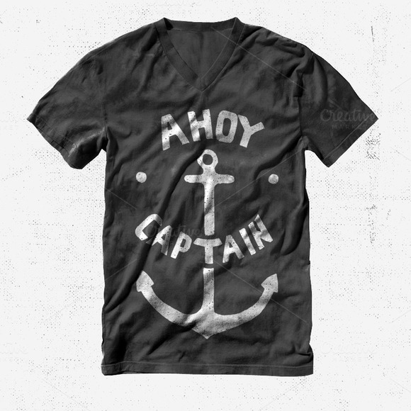 Ahoy Captain T-shirt Design