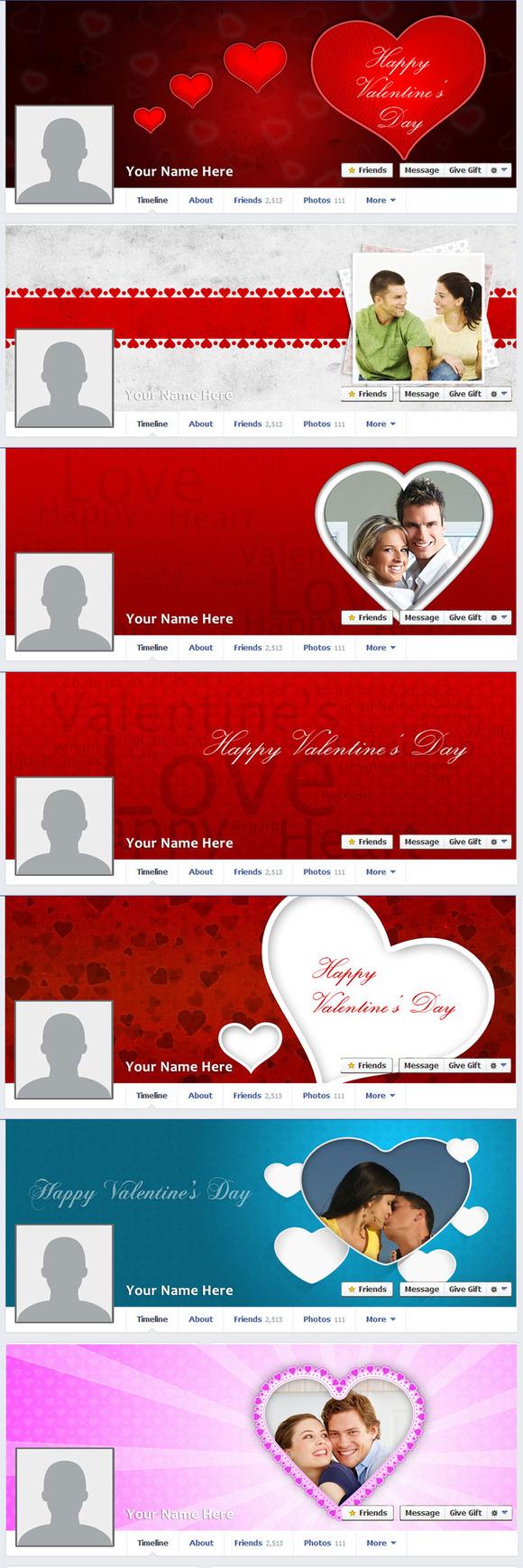 Valentine S Day Facebook Timeline