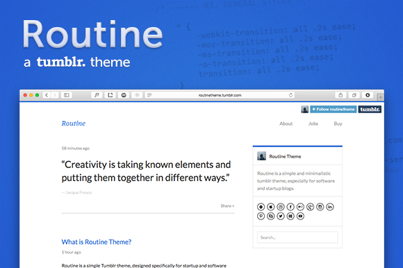 Routine ~ A Solid Tumblr Theme