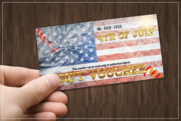 Fourth Of July GIFT VOUCHER
