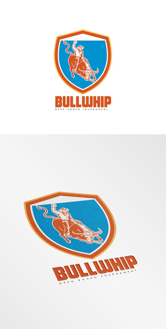 Bullwhip Open Rodeo Tournament Logo