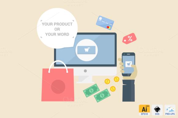 E Commerce Flat Concept