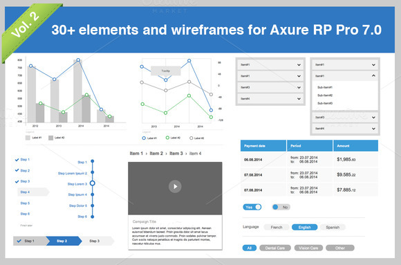 30 Elements For Axure Pro 7.0 Vol.2