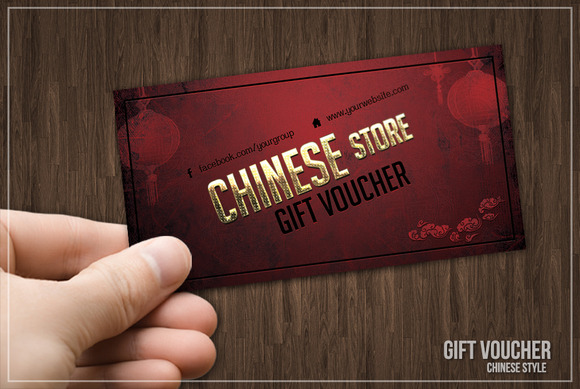 Chinese Style Gift Voucher Or Discou