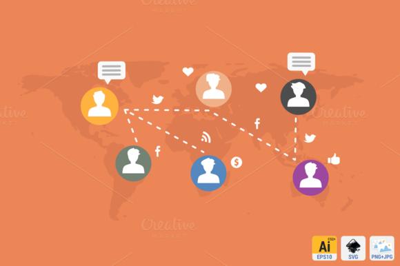 Social Marketing Flat Concept