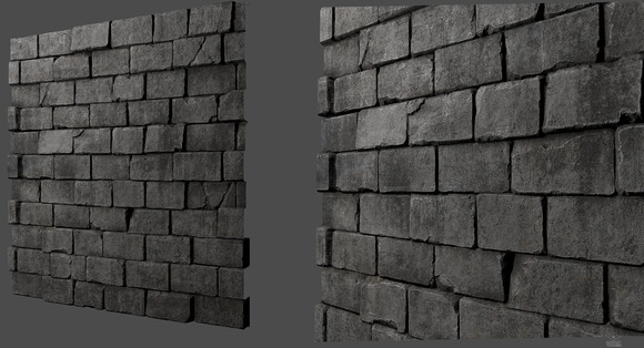 Tileable Bricks Wall