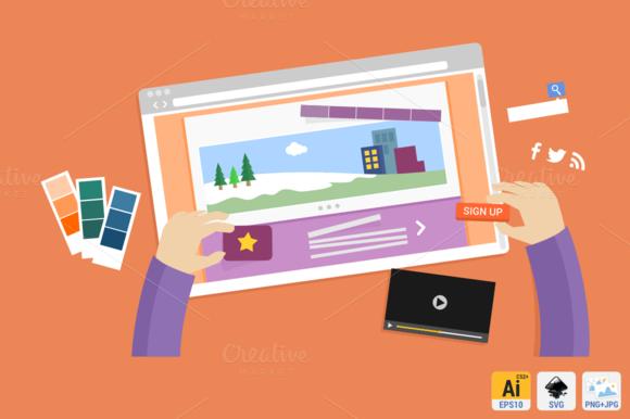 Websites Designs Flat Concept