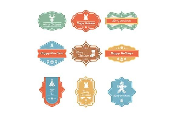 Vector Christmas Badges