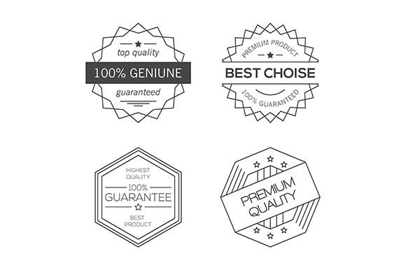 Guarantee Quality Minimal Badges