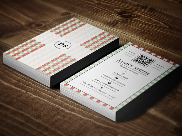 Retro Vintage Style Business Card V2