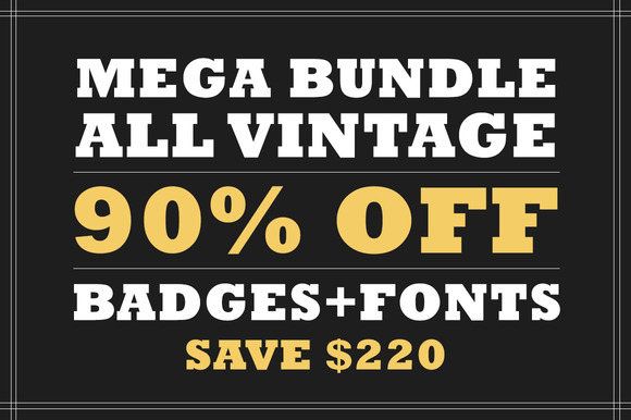 All Vintage Badges Bundle 90% OFF