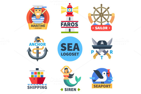 Sea Logo Set