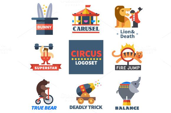 Flat Circus Emblems