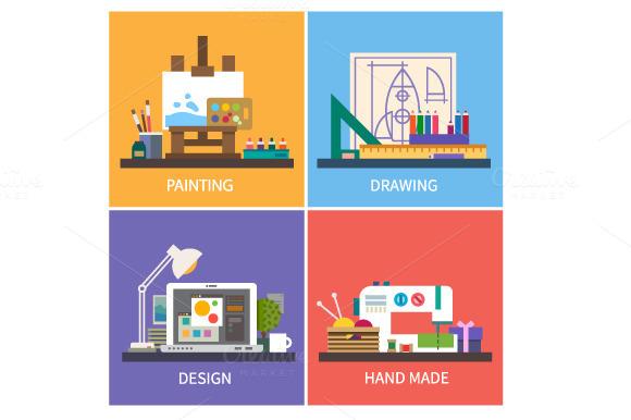 Creativity Vector Flat Illustration