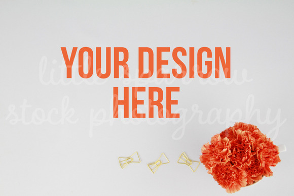 Flowers Paperclips Styled Desktop