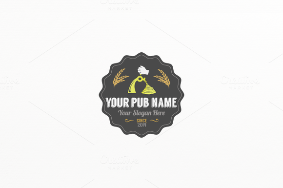 Draft Beer Label Logo