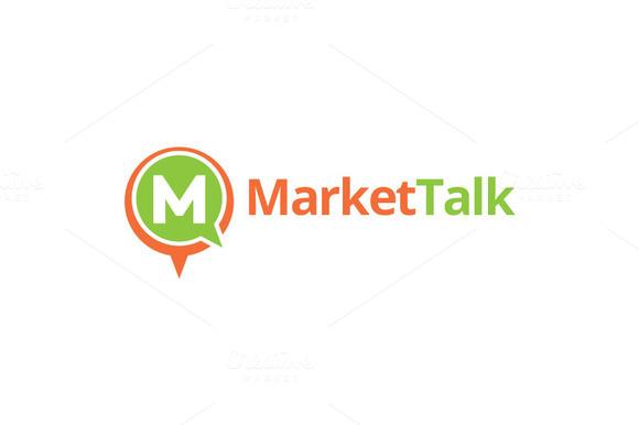 Market Talk M Letter Logo Design