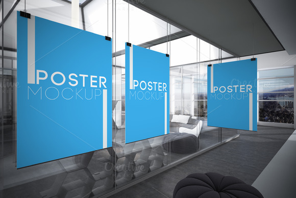 Office Posters Mock-ups