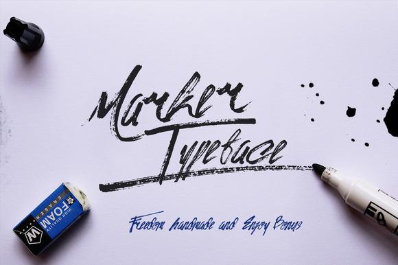 Marker Typeface Bonus