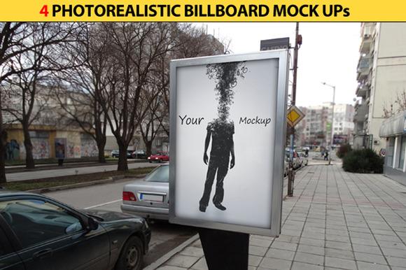 4 Billboards Mock Ups