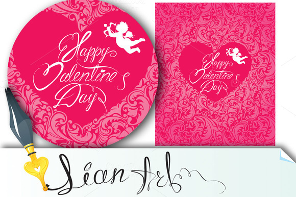 Happy Valentine`s Day And Angel