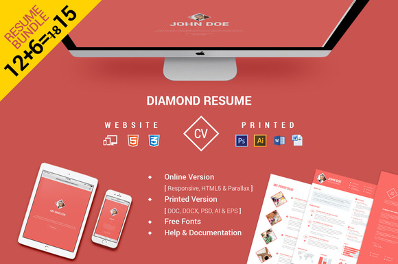 CV Resume Bundle Website Print