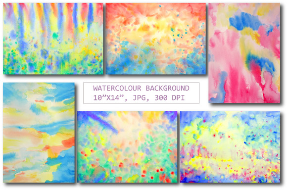 Watercolor Background Textures