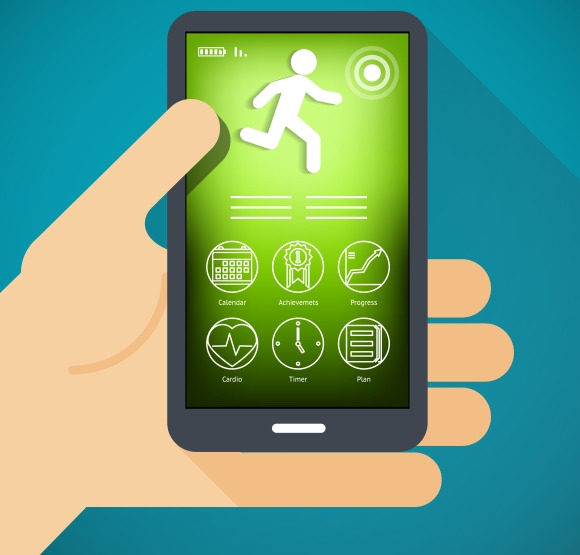 Mobile Phone With Fitness App