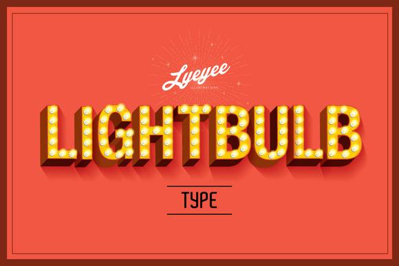 Lightbulb Font Type Vector