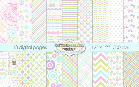 18 Easter Springtime Pastel Papers
