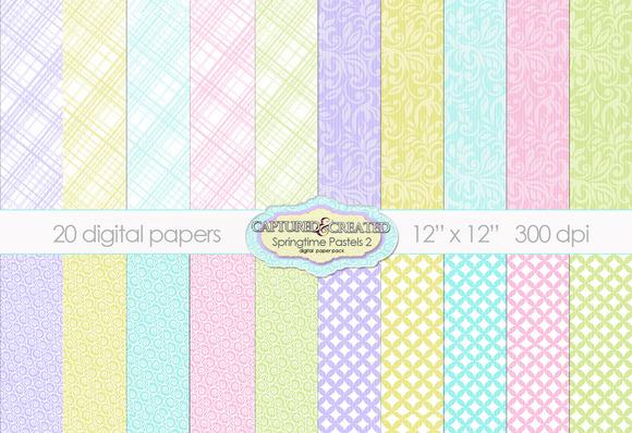 20 Springtime Pastel Papers.Set 2
