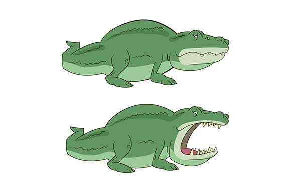 Illustration Of Cartoon Crocodile
