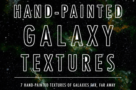 Hand-painted Galaxy Textures