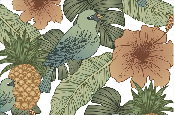 Hand Drawn Tropical Vector