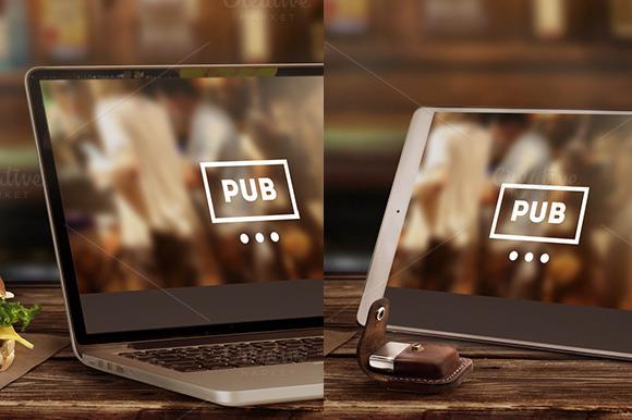 Mock-Up Laptop Tablet