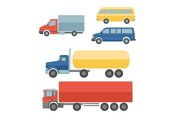 Truck Flat Icons