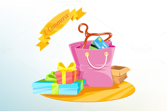 Vector Shopping Concept Illustration