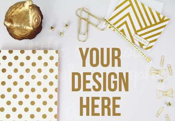 Styled Gold Desktop Mock Up