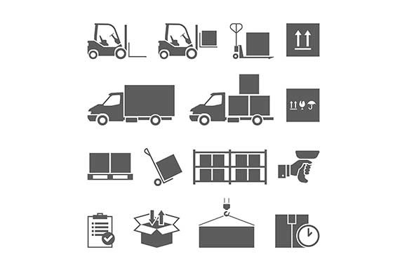 Warehouse Transportation Icons