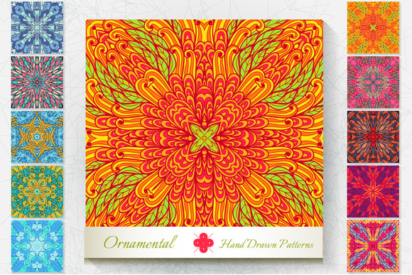 10 Ornamental Patterns Set#4