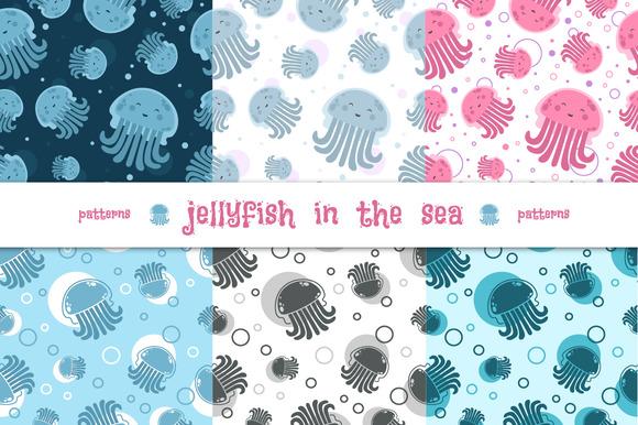 Patterns Gellyfish In The Sea