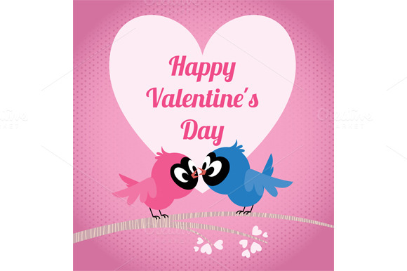 Love Birds Invitation Card