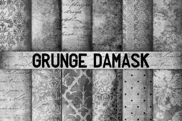 Grunge Damask Backgrounds