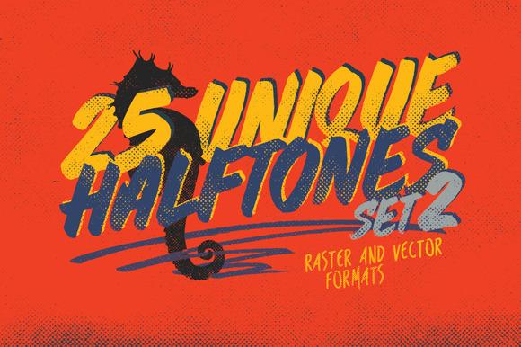 25 Halftones Texture Pack 2 30% OFF