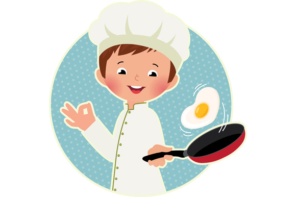 Cook Virtuoso Flipping An Fried Eggs