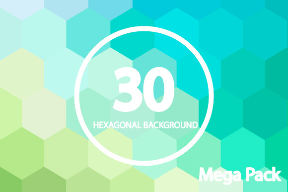 30 Hexagonal Backgrounds MEGA PACK